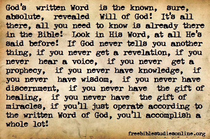 Free bible studies online the will of god is in the word