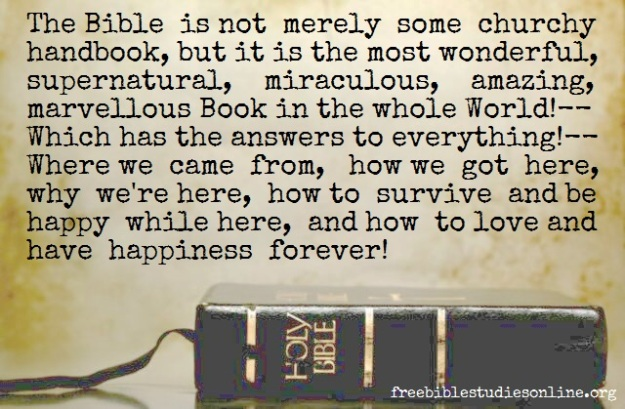 Free bible studies online the bible is not merely some churchy
